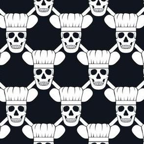 Chef Skull Design In Black Wallpaper