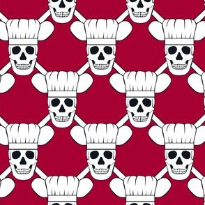Chef Skull Design in Red