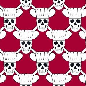 Chef Skull Design in Red
