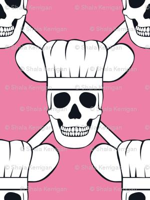 Chef Skull Design in Pink