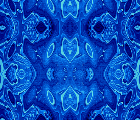 Blue Slime (blue bayou collection) fabric by whimzwhirled on Spoonflower - custom fabric
