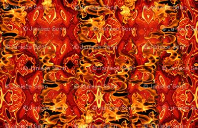 On Fire costuming fabric