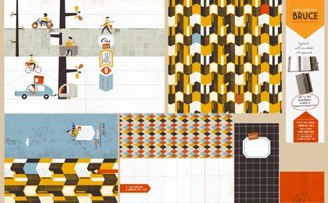 Bruce the notebookjacket fabric by lien_geeroms on Spoonflower - custom fabric