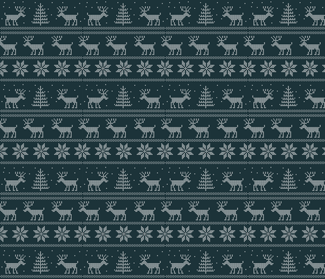 deer winter sweater pattern fabric by anastasiia-ku on Spoonflower - custom fabric