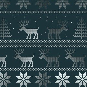 deer winter sweater pattern