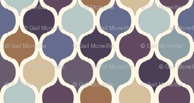 Moroccan Tile Print - Purples & Blues