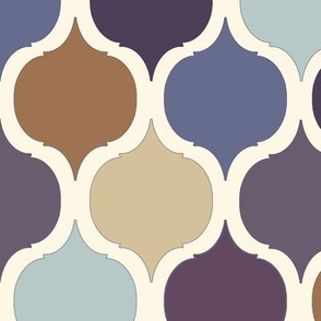 Moroccan Tile Print - Purples & Blues