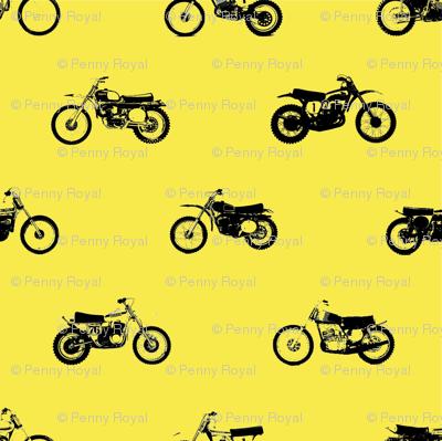 Classic motorcross bikes in yamaha yellow