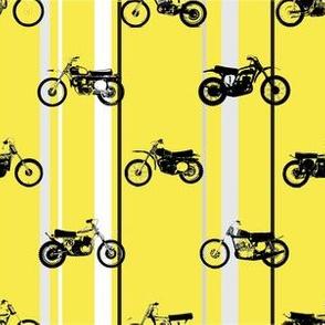 Classic motorcross yamaha yellow racing stripes