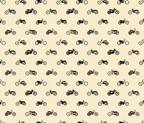 Classic motorcross cream fabric by smuk on Spoonflower - custom fabric