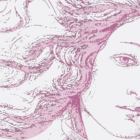 Venus in pink fabric by keweenawchris on Spoonflower - custom fabric