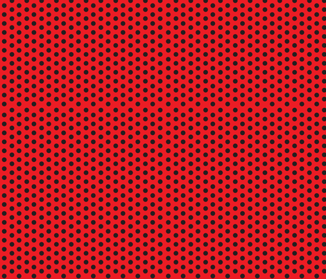 Ladybug Dots fabric by holladaydesigns on Spoonflower - custom fabric