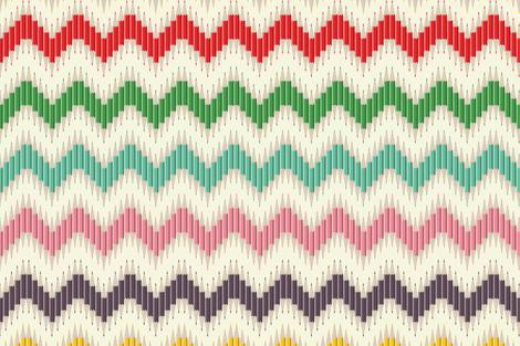 Rainbow Pencil Chevron Stripe fabric by candyjoyce on Spoonflower - custom fabric