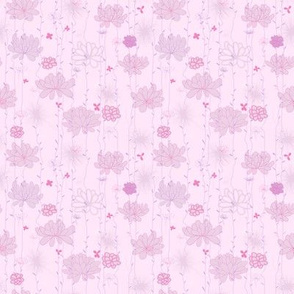 Plants background. Pink