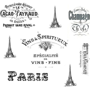 Paris Labels Collage