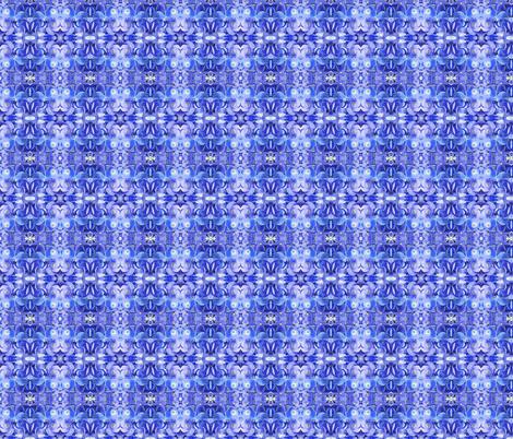 small blue hydrangea fabric by penelopeventura on Spoonflower - custom fabric