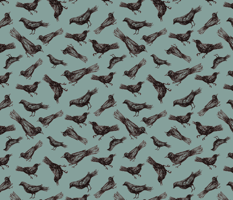 Birds & Branches - birds only fabric by danab78 on Spoonflower - custom fabric
