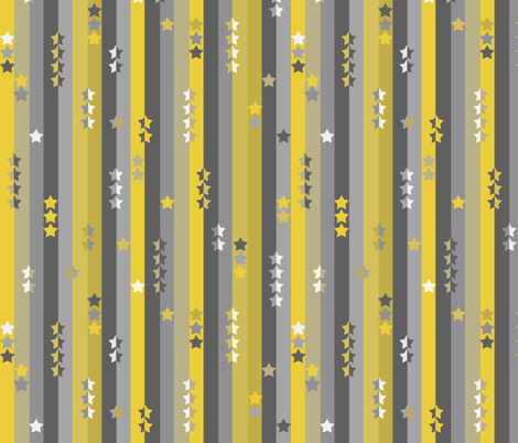 stripes and stars - yellow and grey fabric by uzumakijo on Spoonflower - custom fabric