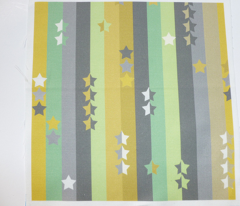 stripes and stars - green, grey and yellow