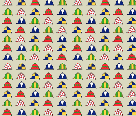 Post Parade of Caps fabric by ragan on Spoonflower - custom fabric