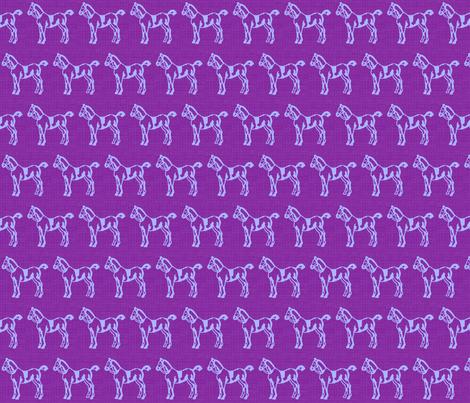 Purple Ponies fabric by ragan on Spoonflower - custom fabric