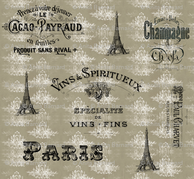Paris_tan_toile_collage