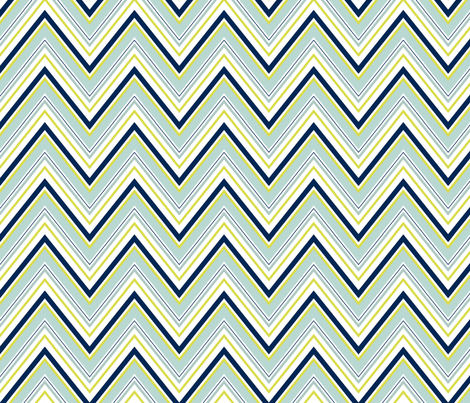 Mint Navy Neon Chevron fabric by mgterry on Spoonflower - custom fabric
