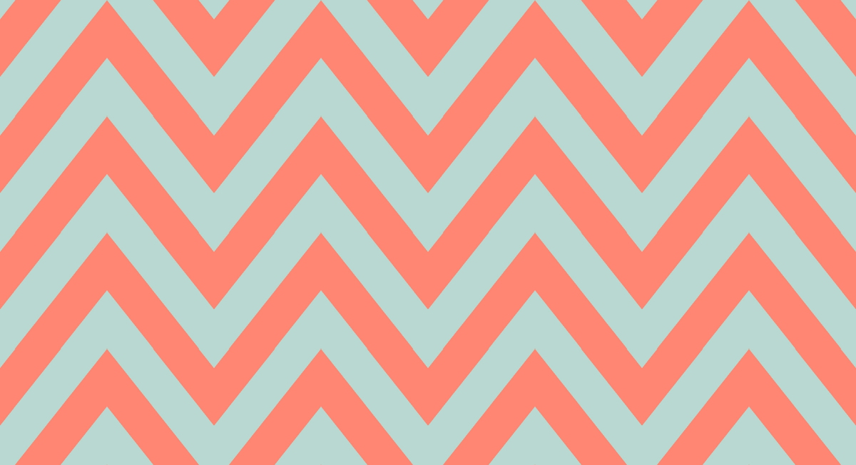 Mint Coral Chevron Wallpaper