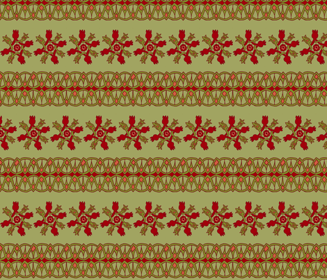 10th Century Persian Pomegranate Motifs - horizontal fabric by rengal on Spoonflower - custom fabric