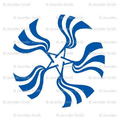 Star Bright Blue White