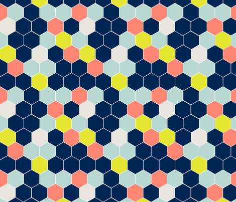 honeycomb2 fabric by mgterry on Spoonflower - custom fabric