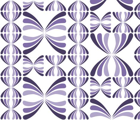 Retro Geometric - Purple fabric by sammyb on Spoonflower - custom fabric