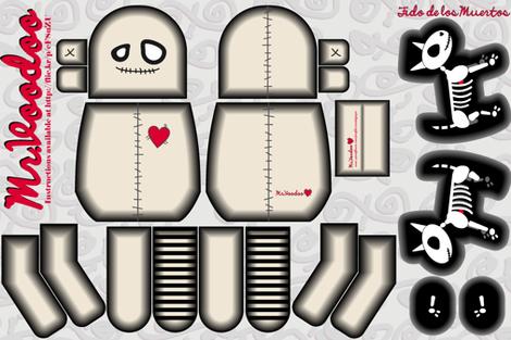 Mr. Voodoo & Fido de los Muertos fabric by candyjoyce on Spoonflower - custom fabric