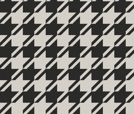 Huge Houndstooth fabric by candyjoyce on Spoonflower - custom fabric
