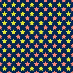Navy Neon Coral Star