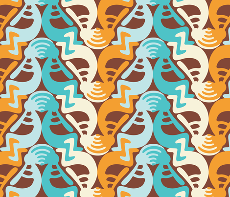 Kokopelli Beach fabric by andrea11 on Spoonflower - custom fabric