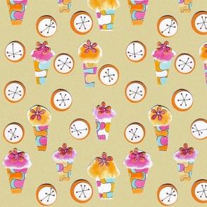 cupcake retro collage