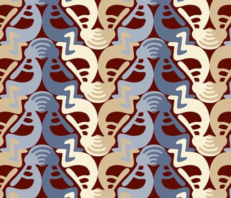 Kokopelli Stone fabric by andrea11 on Spoonflower - custom fabric