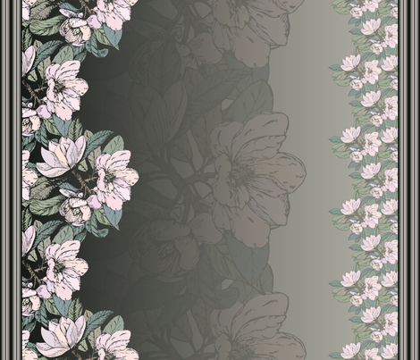 magnolia_silver_ombre fabric by danielleonfire on Spoonflower - custom fabric