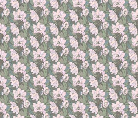 magnolia_silver fabric by danielleonfire on Spoonflower - custom fabric