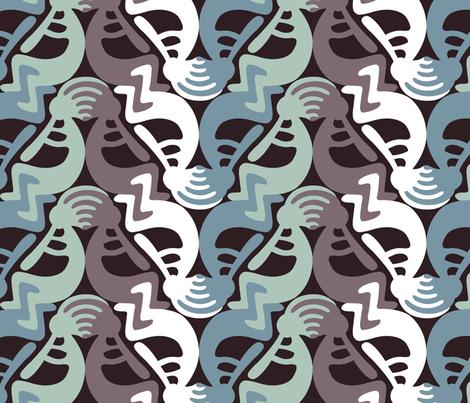 Kokopelli Season1 fabric by andrea11 on Spoonflower - custom fabric