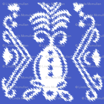 Pineapple Ikat Blue