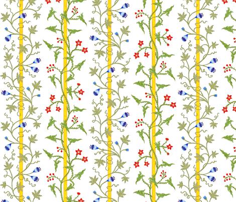 Rococo - Stripes and Vines - c. 1726-27 fabric by bonnie_phantasm on Spoonflower - custom fabric
