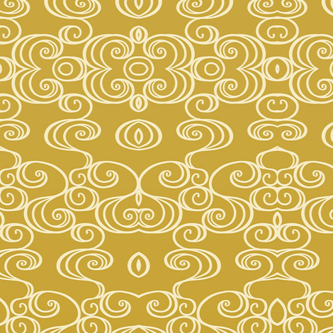 Goldie Swirlie small fabric by flyingfish on Spoonflower - custom fabric