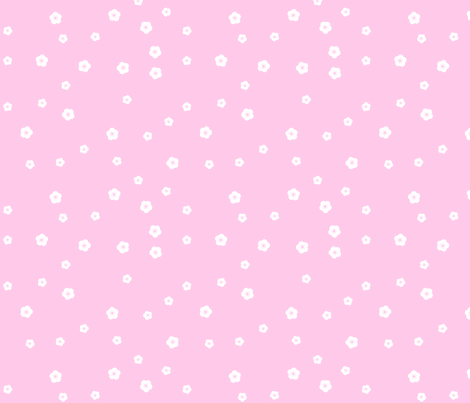 Pink Blossoms fabric by shelleymade on Spoonflower - custom fabric