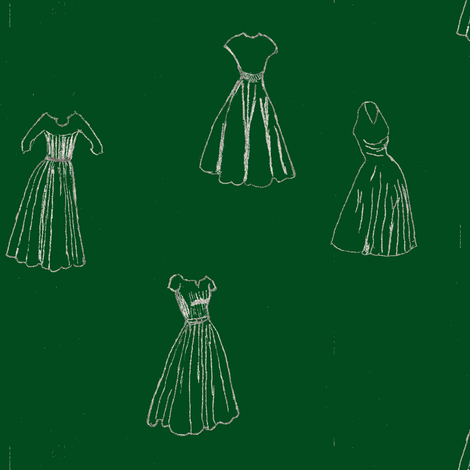 Classic Cocktail Dresses - green fabric by datawolf on Spoonflower - custom fabric