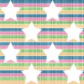 star stripes rainbow