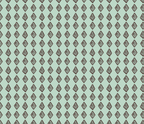 African Vertical Diamond in blue & green fabric by angie_mac on Spoonflower - custom fabric