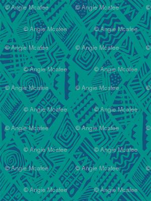 African Diamond in blue & green