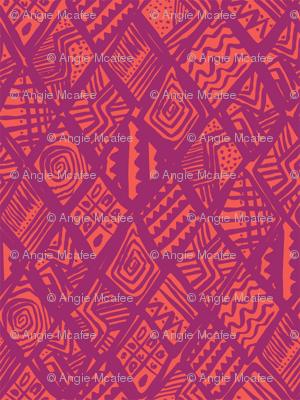 African Diamond in purple & orange